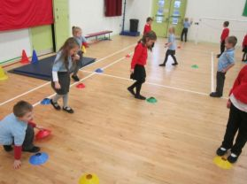 P1 and P2 Shared PE lessons with Knockahollet P.S.