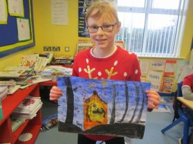P6 and P7 Christmas Art