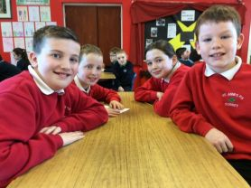 Fun at the Cumann na mBunscoil quiz