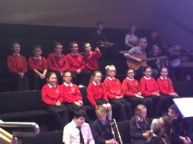 P6 and P7 choir in the Seamus Heaney Homeplace