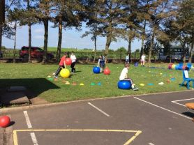 A big thank you to Knockahollet for inviting us to the 'fun sports day'. P4 & 5 had a great time!