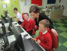 Mrs Marron leading the ICT After-schools club